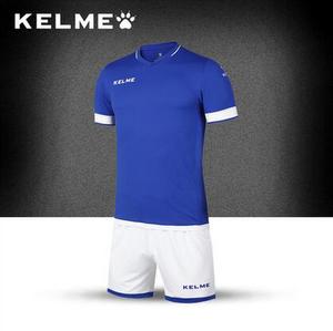 KELME卡尔美 新款正品足球服套装男短袖比赛服训练服定制组队球衣