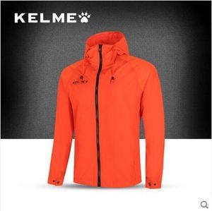 KELME卡尔美 球员版运动风雨衣 男女防风防水连帽足球训练服外套