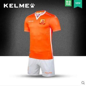 KELME卡尔美 2016赛季中甲联赛武汉卓尔足球比赛服套装主场球员版