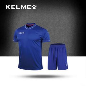 KELME卡尔美 足球服短袖套装男比赛训练光板组队定制成人儿童球衣